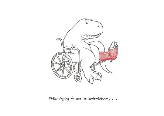 T-Rex with a broken leg