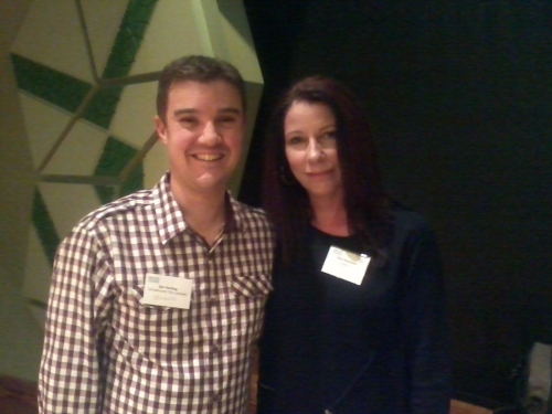 Me and Vikki Wakefield (author of Friday Brown)